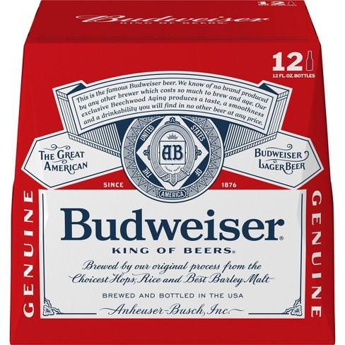 Budweiser Lager Beer - 12pk/12 fl oz Bottles - image 1 of 3