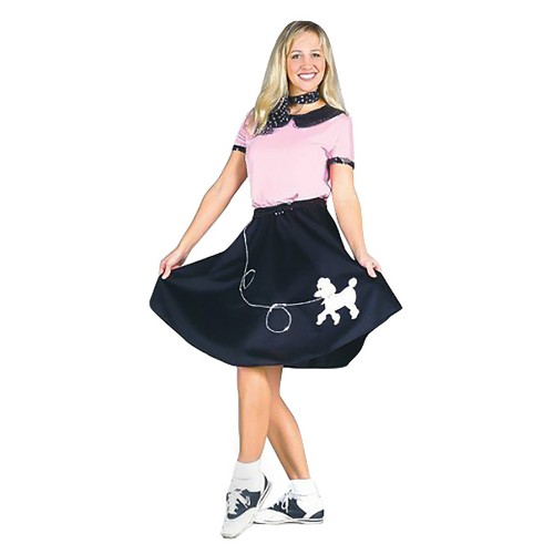 Halloween Women's 50's Hop With Poodle Skirt Costume L, Size: Large