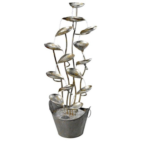 Rain Forest Leaves Cascading Metal Fountain - Acorn Hollow - image 1 of 4