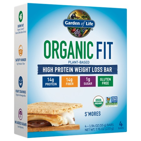Garden of Life Organic Vegan Fit Protein Bar - S'mores - 4pk - image 1 of 2