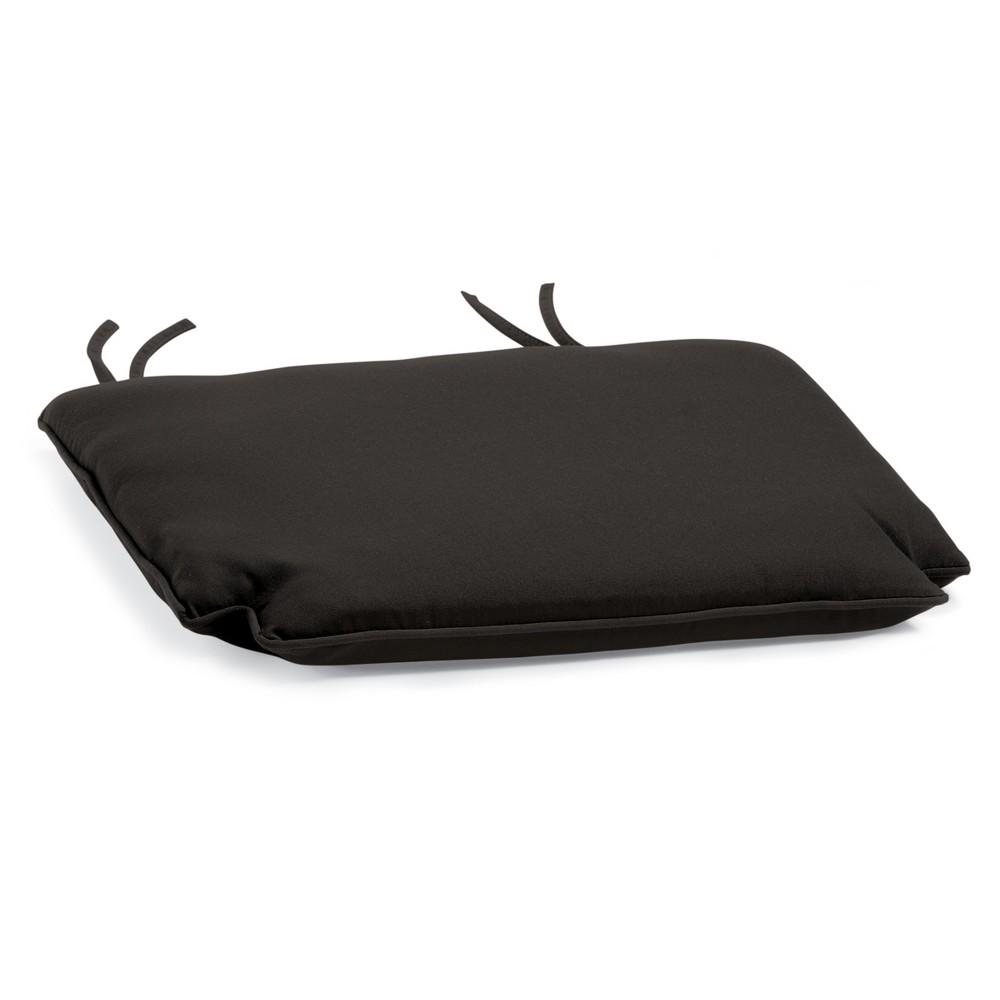 Sunbrella Outdoor Cushion for Patio Chairs - Black Sunbrella Fabric - Oxford Garden