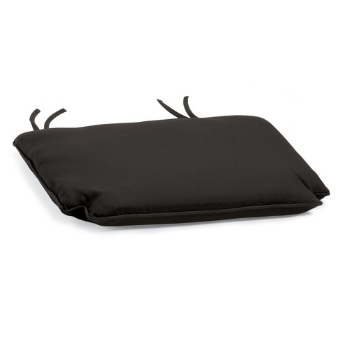 Sunbrella Outdoor Cushion for Patio Chairs - Black Sunbrella Fabric - Oxford Garden - image 1 of 1