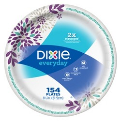 "Dixie Everyday 8.5"" Paper Plates - 154ct"
