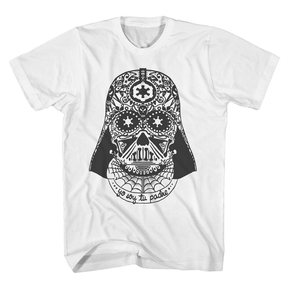 Men's Big & Tall Star Wars Soy Tu Padre Darth Vader T-Shirt White 5XL Tall