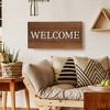 "12""x24"" Welcome Cut Out Wood Plank Wall Art Brown - Patton Wall Decor - image 5 of 5"