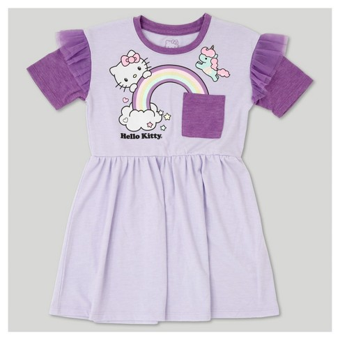Toddler Girls' Hello Kitty A Line Dress - Lilac - image 1 of 2