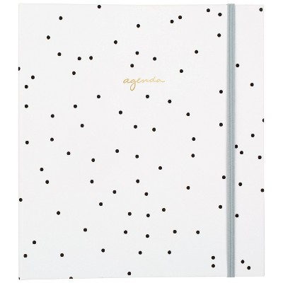 """2021-22 Academic Planner 8.75"""" x 6.875"""" Concealed Wire Weekly/Monthly Black & White Dot - Sugar Paper™"""