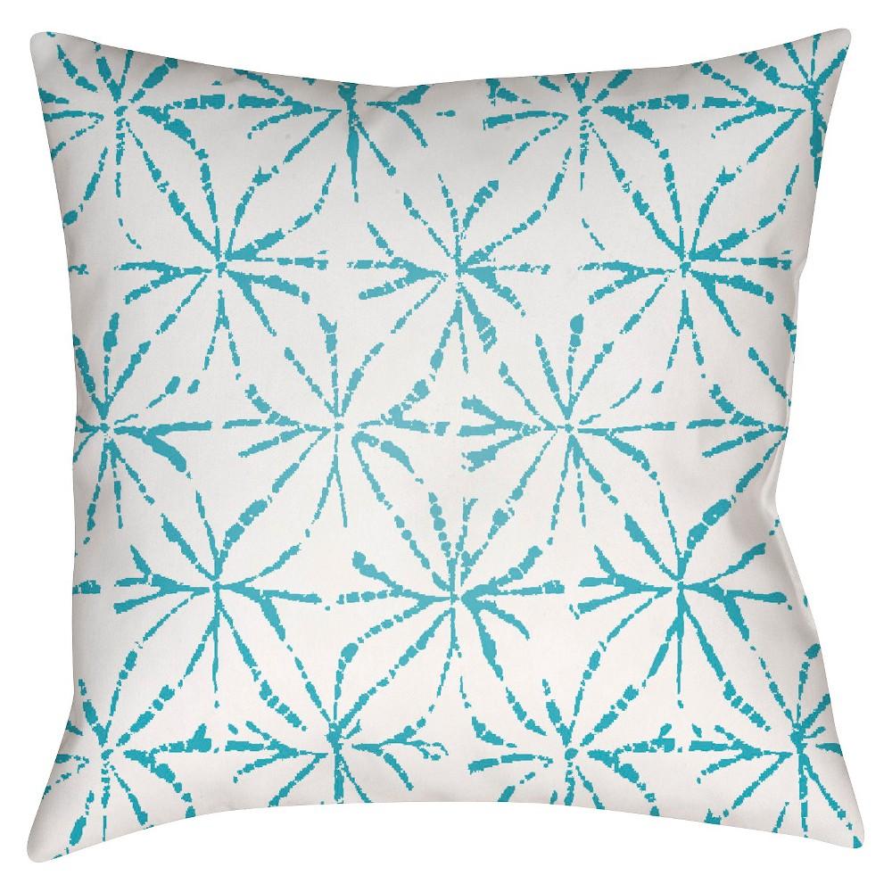 Teal (Blue) Pelotas Stars Throw Pillow 16