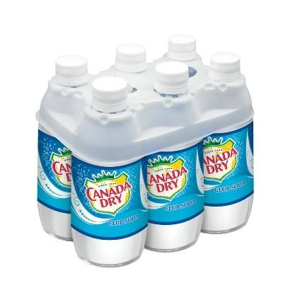 Canada Dry Club Soda - 6pk/10 fl oz Glass Bottles