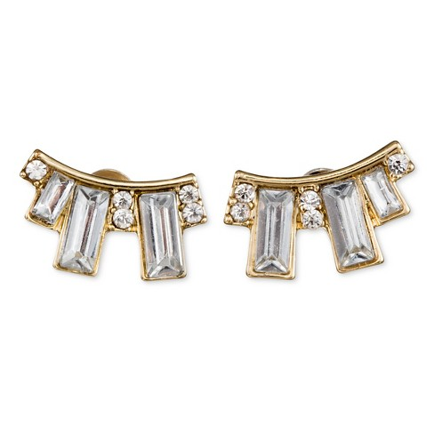 28f4e47cfad SUGARFIX By BaubleBar™ Crystal Crawler Earrings - Clear   Target