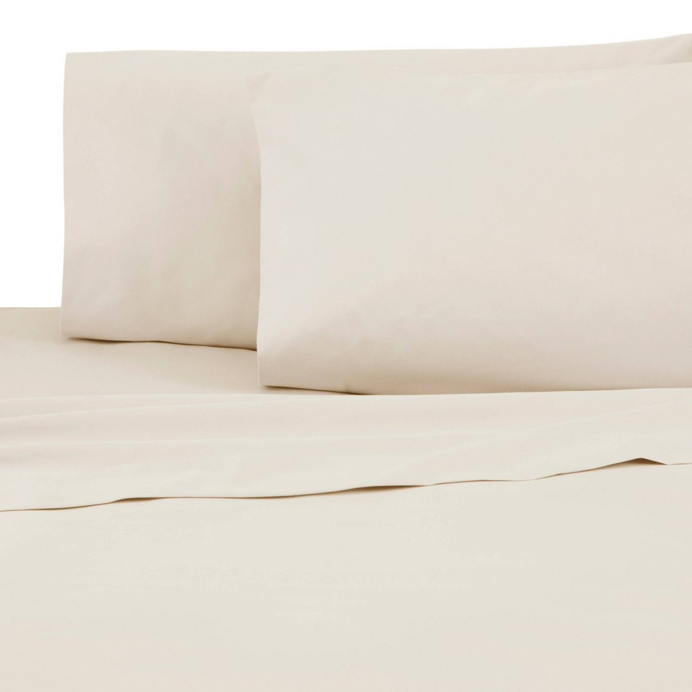 Twin Xl 300 Thread Count Sateen Solid Sheet Set Ivory Atelier Martex