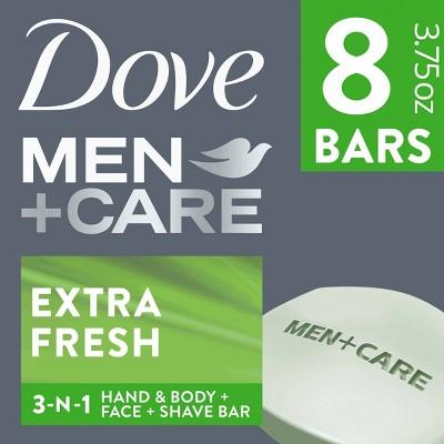 Dove Men+Care Extra Fresh Body and Face Bar Soap - 8pk - 3.75oz each