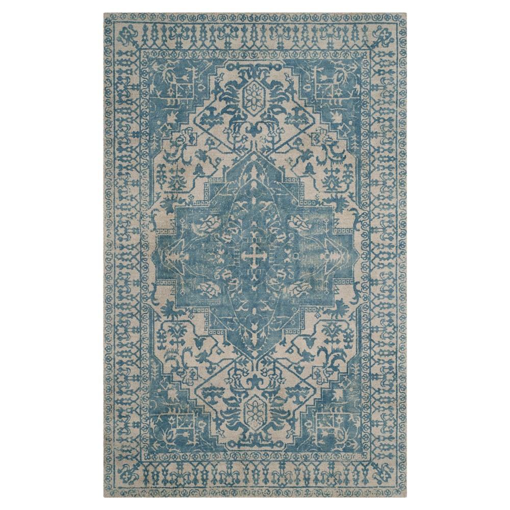 Restoration Vintage Rug - Ivory/Turquoise - (8'x10') - Safavieh