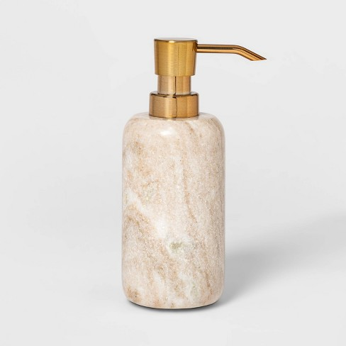 Marble Soap Pump Beige - Threshold™ - image 1 of 4