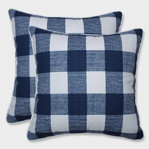 """18.5"""" 2pk Anderson Zaffre Throw Pillows Blue - Pillow Perfect - image 1 of 1"""