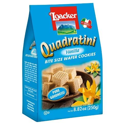 Loacker Quadratini Vanilla Bite Size Wafer Cookies - 8.82oz - image 1 of 1