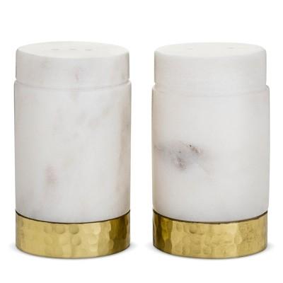Salt and Pepper Shaker Set Marble - Threshold™