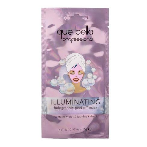 Que Bella Professional Illuminating Holographic Peel off Mask - 0.35oz - image 1 of 4
