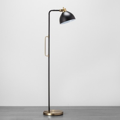 Black and Brass Handle Floor Lamp - Hearth & Hand™ with Magnolia