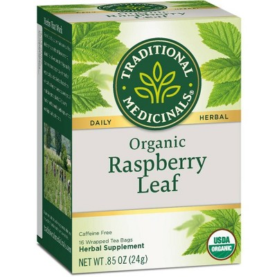 Traditional Medicinals Organic Raspberry Leaf Herbal Tea - 16ct