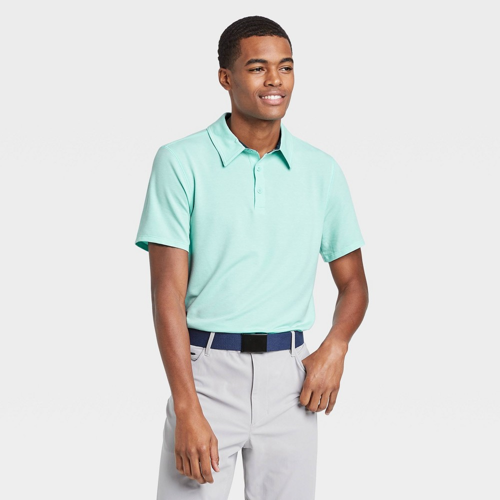 Men's Pique Golf Polo Shirt - All in Motion Turquoise Mint XXL, Turquoise Green was $22.0 now $12.0 (45.0% off)