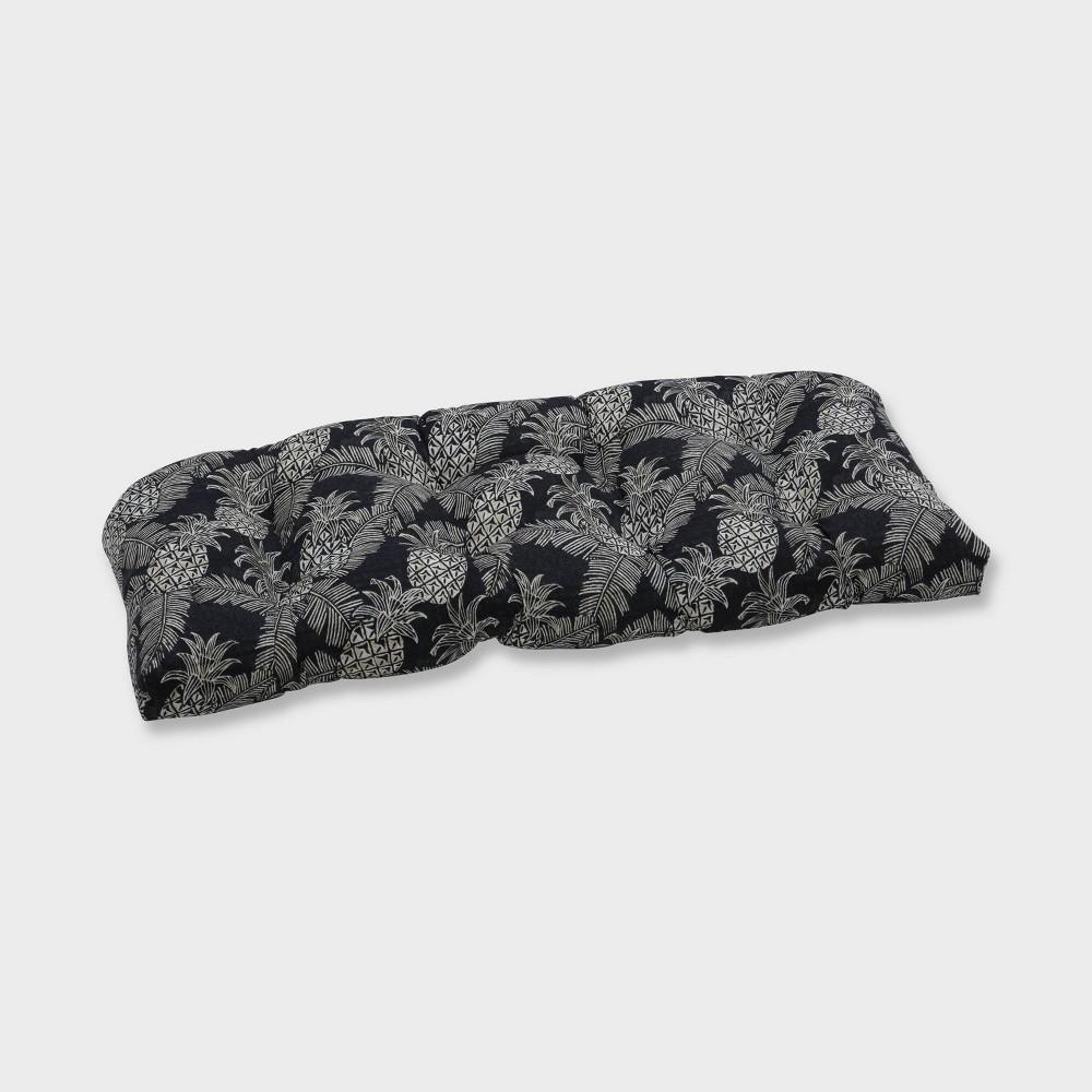 Admirable Carate Batik Noche Wicker Outdoor Loveseat Cushion Black Forskolin Free Trial Chair Design Images Forskolin Free Trialorg