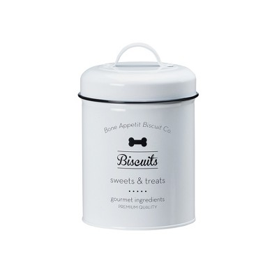 Amici Pet Puppy Love Metal Pet Storage Canisters, Assorted Set of 2 Sizes
