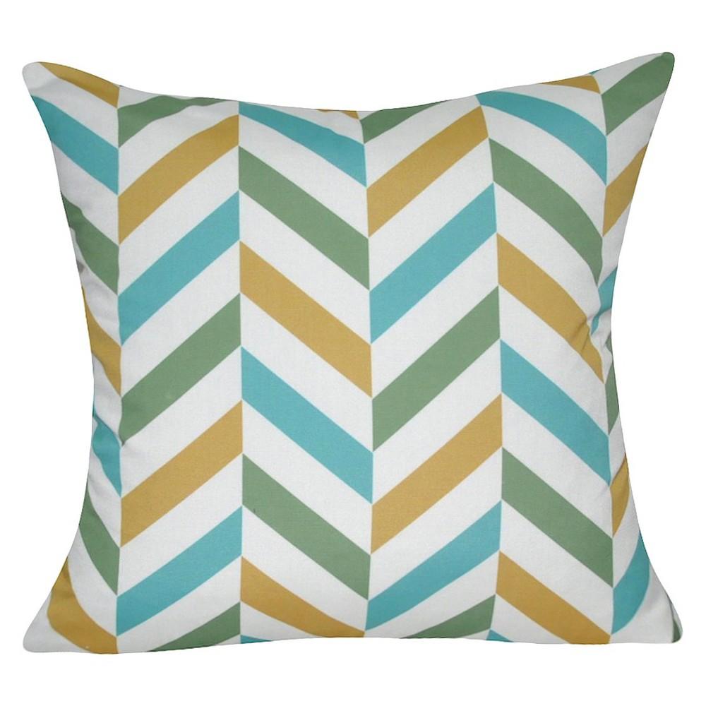 Meadow Green Chevron Throw Pillow (21