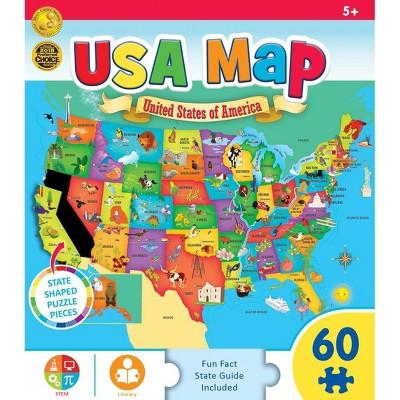MasterPieces Inc Explorer Kids USA Map 60 Piece Jigsaw Puzzle