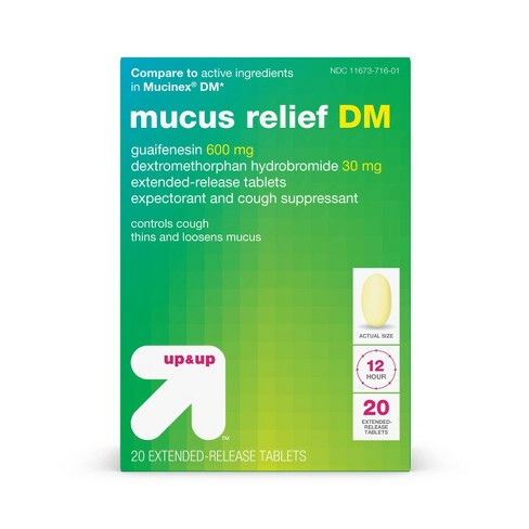 Mucus Relief DM Extended Release Tablets - 20ct - Up&Up™ - image 1 of 4