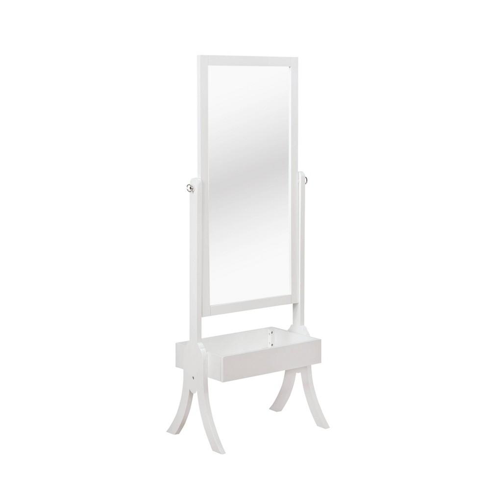 Image of Aurora Cheval Mirror White - Powell Company