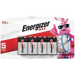 Energizer Max 9V Batteries 4 ct (522BP-4H)
