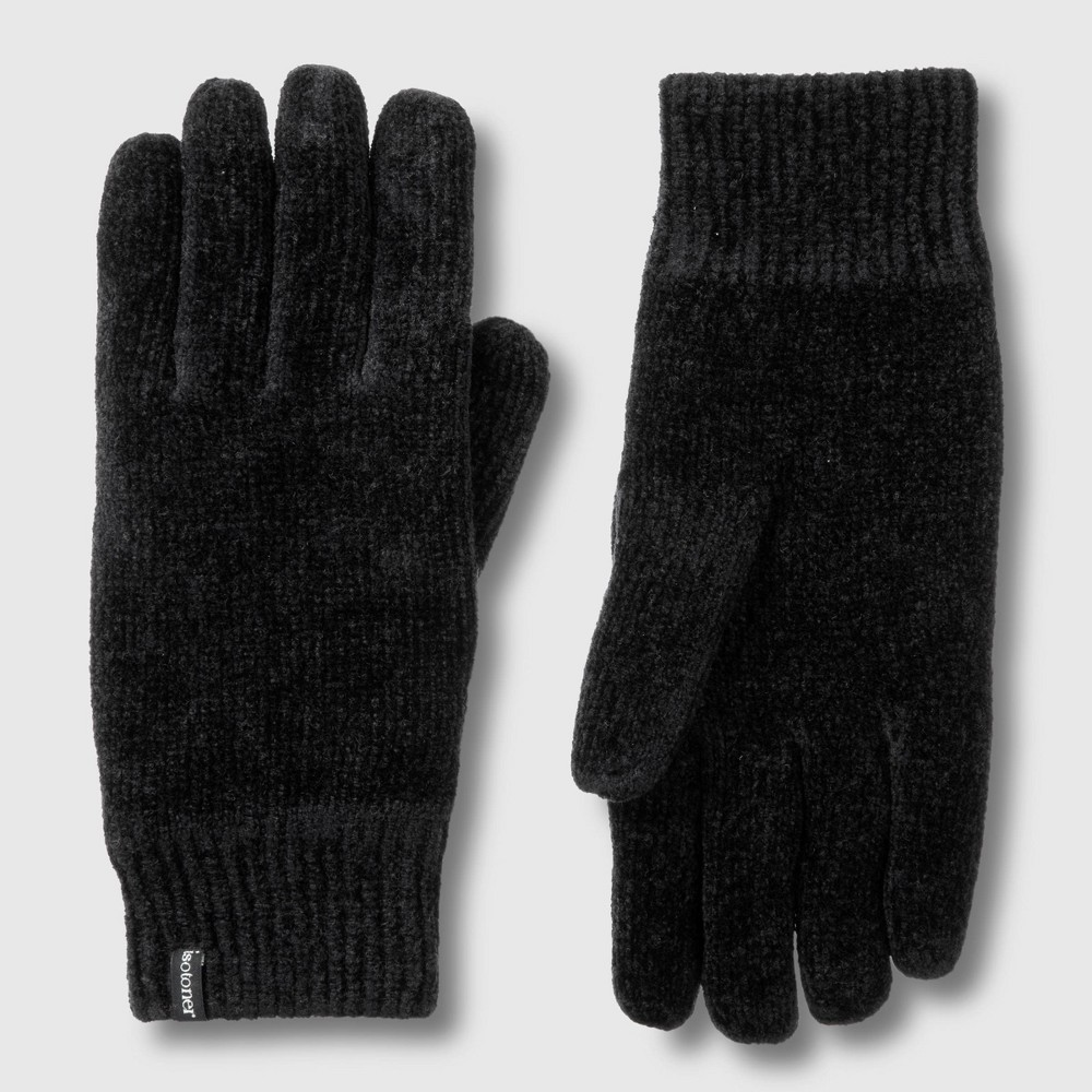 Image of Isotoner Women's Chenille Glove - Black One Size