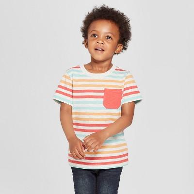 Toddler Boys' Pocket Short Sleeve T-Shirt - Cat & Jack™ Heather 3T