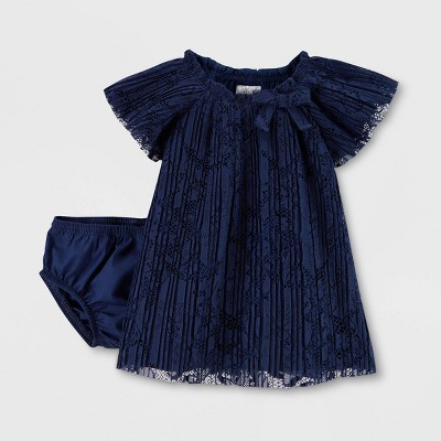 Baby Girls' Holiday Lace Dress - Just One You® made by carter's Navy Blue Newborn