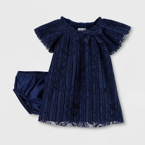 Baby Girls' Holiday Lace Dress - Just One You® made by carter's Navy Blue - image 1 of 1