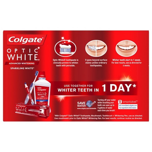 Best Whitening Toothpaste >> Colgate Optic White Whitening Toothpaste Sparkling White 3 5oz 2pk