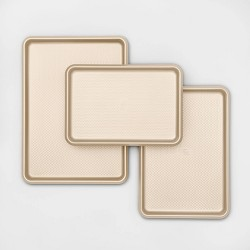 3pk Aluminized Steel Cookie Sheet Gold - Made By Design™