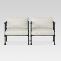 Fernhill 2pk Metal Patio Club Chair Linen - Threshold™