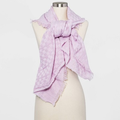Women's Square Gingham Jacquard Scarf - Universal Thread™ One Size