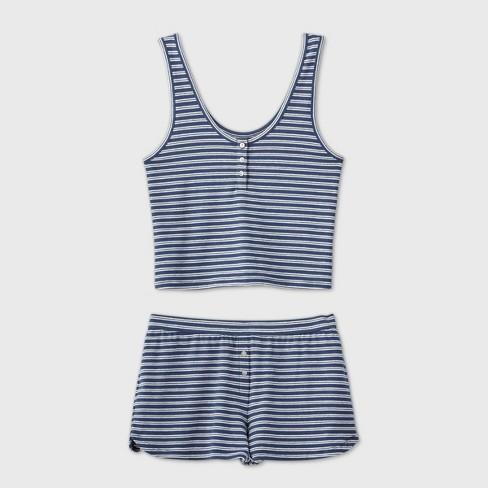 Women's Striped Tank Pajama Set - Colsie™ - image 1 of 2