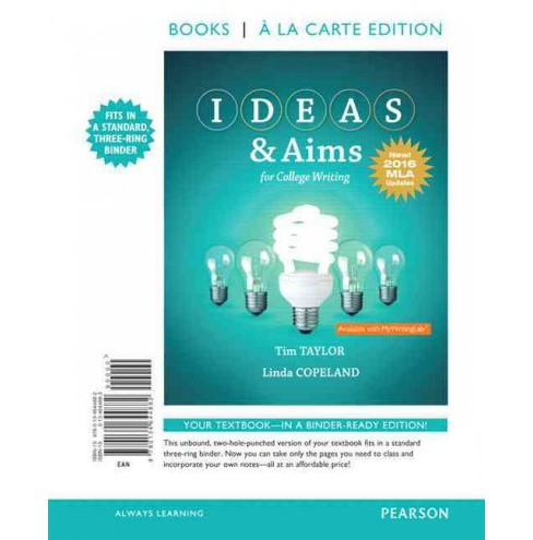 Ideas & Aims for College Writing : MLA Update (Paperback) (Tim Taylor & Linda Copeland) - image 1 of 1