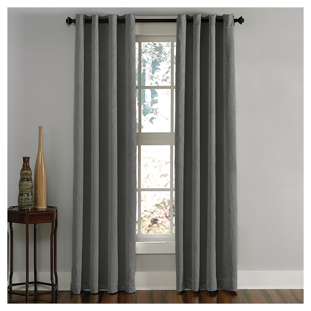 "Image of ""Curtainworks Lenox Room Darkening Curtain Panel - Gray (144"""")"""