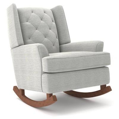 Best Chairs Ames Upholstered Runner Rocker Dark Walnut - Cloud