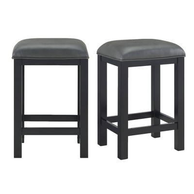 Set of 2 Colton Counter Height Stools Dark Gray - Picket House Furnishings