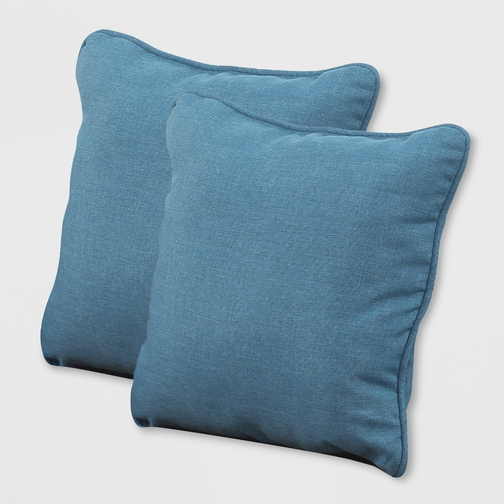 Image of Rolston 2pk Outdoor Accent Pillows Blue - Grand Basket