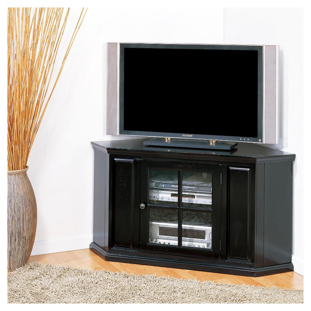46 Corner TV Stand - Black Rub - Leick Home