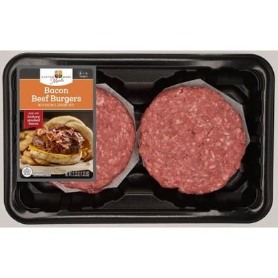 Custom Made Meals Beef & Bacon Burgers - 1.33lbs