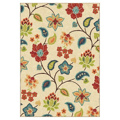 Orian Rugs Garden Chintz Promise Transitional Area Rug - Ivory