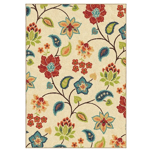 Orian Rugs Garden Chintz Promise Transitional Area Rug - Ivory - image 1 of 5